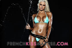 Maryse Ouellet ~ Neon Micro Bikini Photoshoot x 8 MQ/HQ Tagged