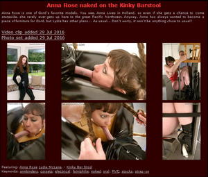 House of Gord: Anna Rose naked on the Kinky Barstool