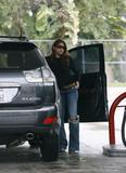 Eva Mendes shows ass in jeans at a Gas Station in Los Feliz